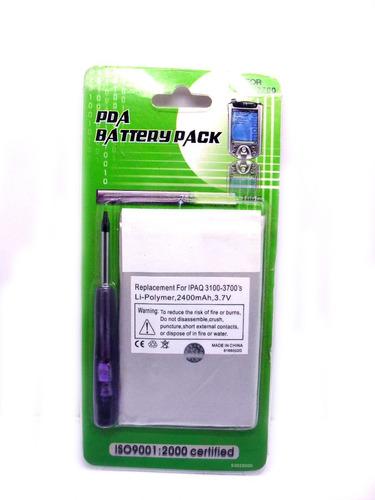 bateria para ipaq hp pda serie h3100 e h3700s 2400mah
