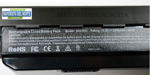 bateria para laptop asus