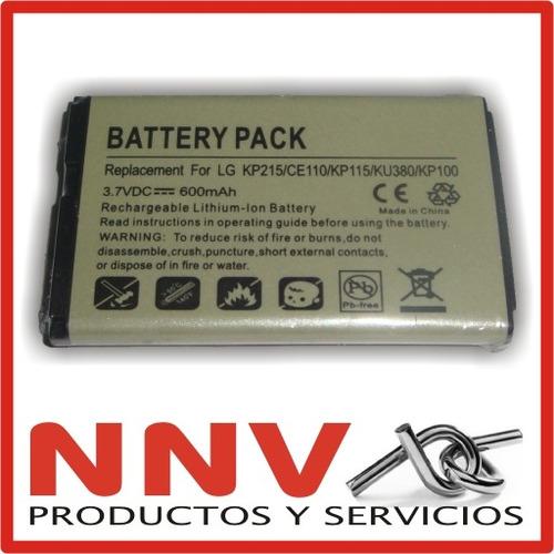 bateria para lg kp100 kp210 kp215 ku380 ux585 invision 100c