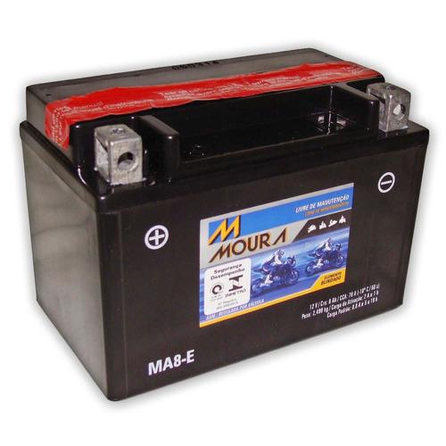 bateria para moto moura ma8-e 12v 8ah ( yuasa ytx9-bs )