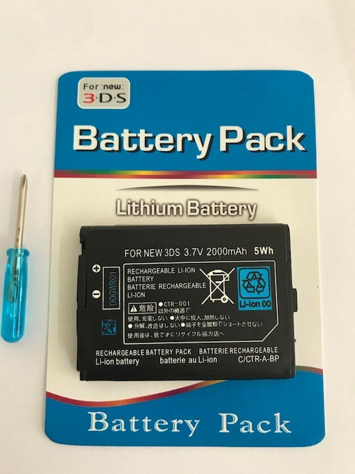 Bateria Para Nintendo - New 3ds - 3,7v 2000 Mah 5wh + Chave
