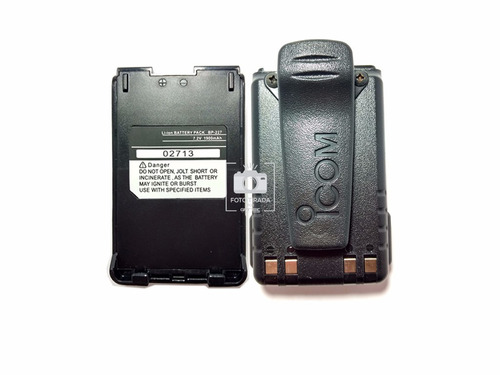 bateria para radio v85 icom bp-227 1900mah li-on + clip icom