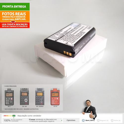 bateria para tascam dr1 gtr1 dr100 dr100mkii 1800mah bpl2 np