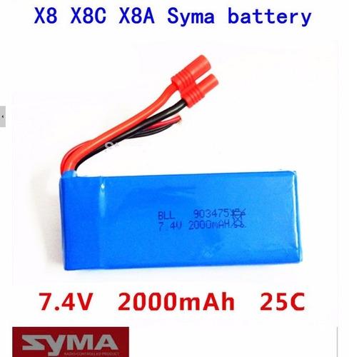 batería para  wl v262 v323 v333 v666 gran quad 7.4 v 2000 ma