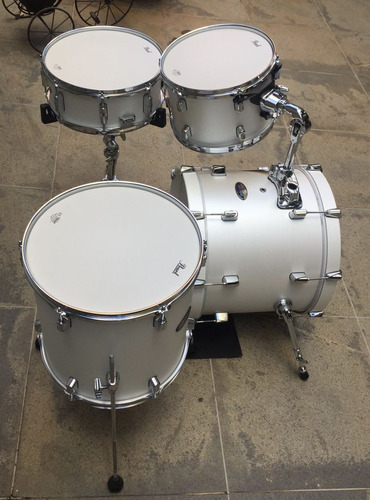 bateria pearl decade maple 18 jazz bop white santin pearl