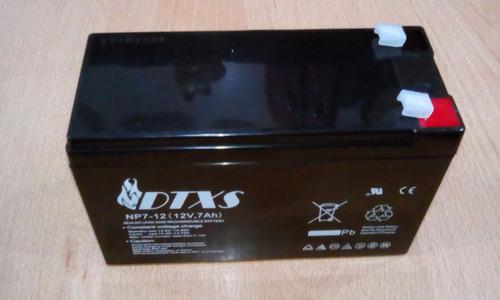 batería pila 12 v 7 amp para ups, alarmas. i.v.a incluido.