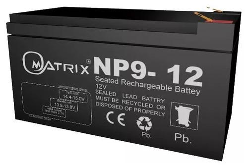 bateria pila 12v 9ah ups lamparas de emergencia matrixtienda
