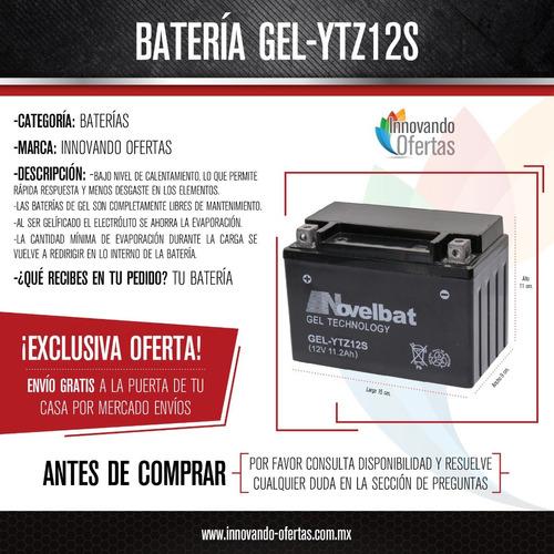bateria pila acumulador motocicleta ytz12s gel envio gratis