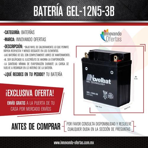 bateria pila acumulador motos yamaha12n5-3b gel