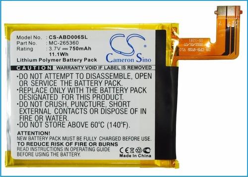 bateria pila amazon d01100 kindle 4 4g 5 515-1058-01