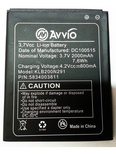 bateria pila celular avvio 793