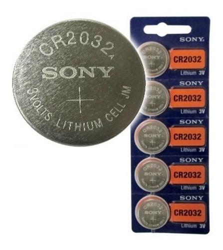 batería pila cr2032 sony litio 3v pack x 5 original