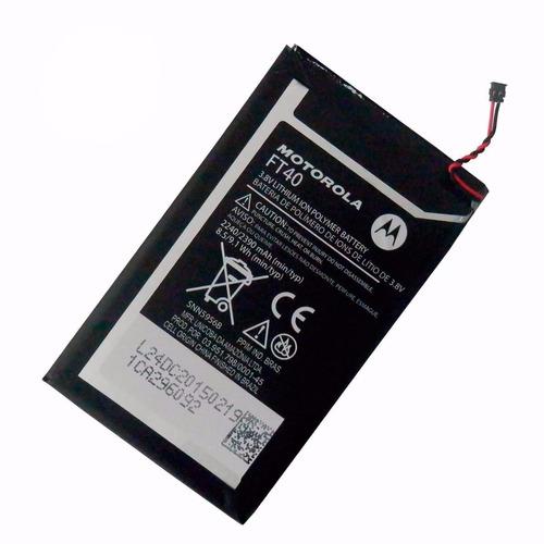 bateria pila ft40 moto e2 2da xt1527 xt1524 xt1505 2390mah