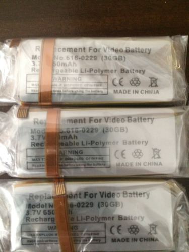 bateria pila ipod classic 6g y 7g 80gb, 120gb y 160gb 30gb