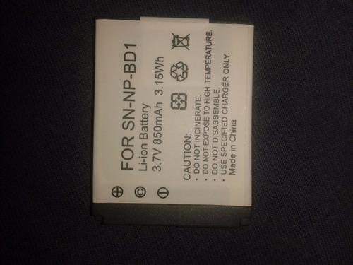 bateria pila npbd1 para camara sony cybershot