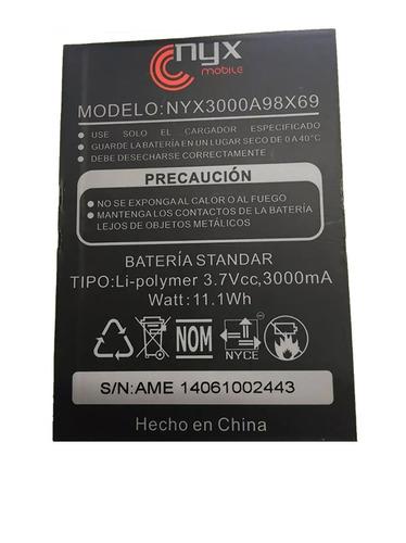 bateria pila nyx  nyx3000a98x69 3000 mah original