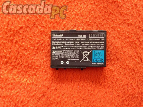 bateria pila original recargable nintendo ds lite