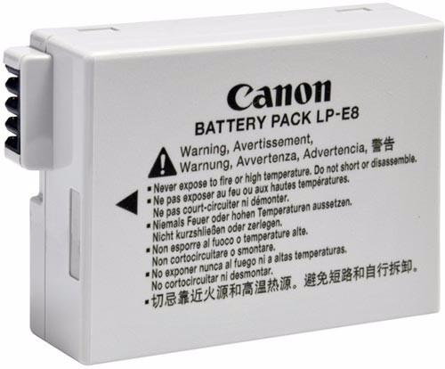 bateria  pila  para canon lp e8 canon t2i t3i t4i t5i 600d