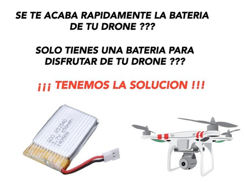 batería pila para drone helicoptero quadcopter 650mah 3.7 v