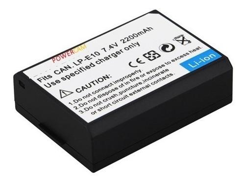bateria pila power lp e10 lpe10 para canon 1100d 1200d t3 t5