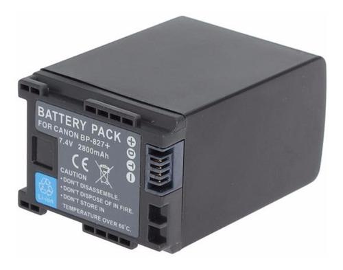 bateria pila powercam bp827 para filmadora canon hf200 hf11