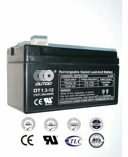 bateria pila recargable 12v 1.3ah (aplica 1.2ah) acceso