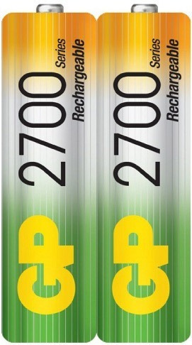 batería pila recargable aa 2700 mah 1 par ideal wii, camara