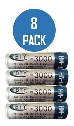 bateria pila recargable doble a aa calidad tienda fisica
