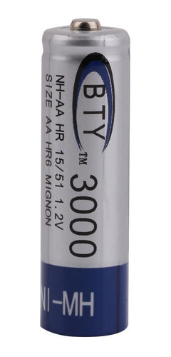 bateria pila recargable doble aa 2 unidades 3000 mah 1.2v