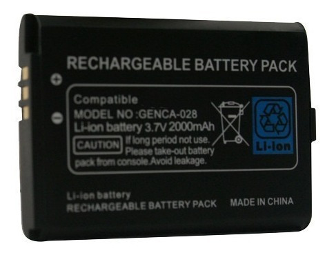 bateria pila recargable nintendo 3ds sellada blister 2000mh