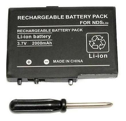bateria pila recargable nintendo ds lite + destornillador