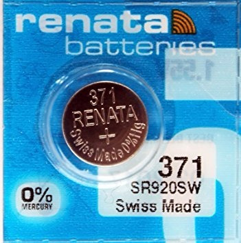 batería pila renata 371 1.55 v para reloj oxido de plata