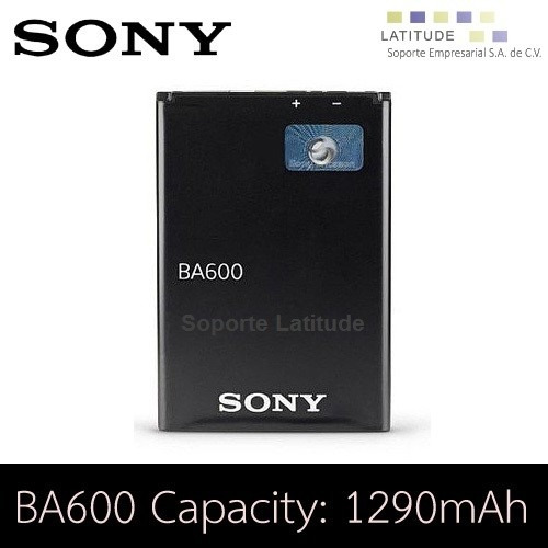 bateria pila sony ba600 xperia u st25 xperia nueva 1290mah