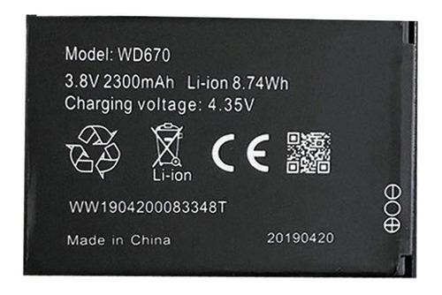 bateria pila zte wd670 wi-pod 2300mah 3.8v sabana grande