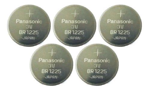 bateria pilha cr1225 panasonic   cartela c/05 - frete 17,00