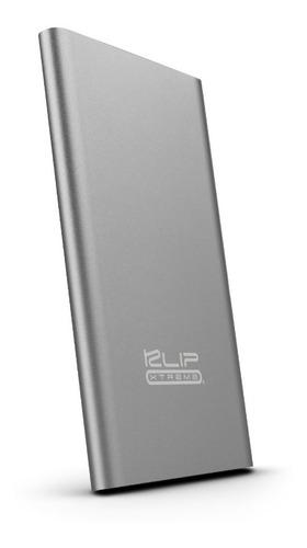 bateria portatil klip xtreme 3700mah 2.1 a gris powerbank