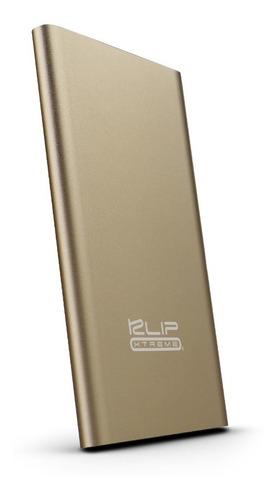 bateria portatil klip xtreme 3700mah 2.1a dorado powerbank
