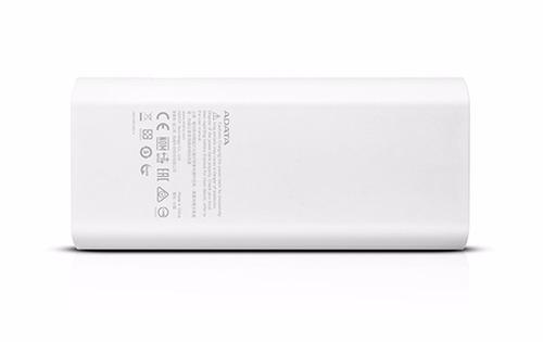 batería portátil litio adata p12500 blanco