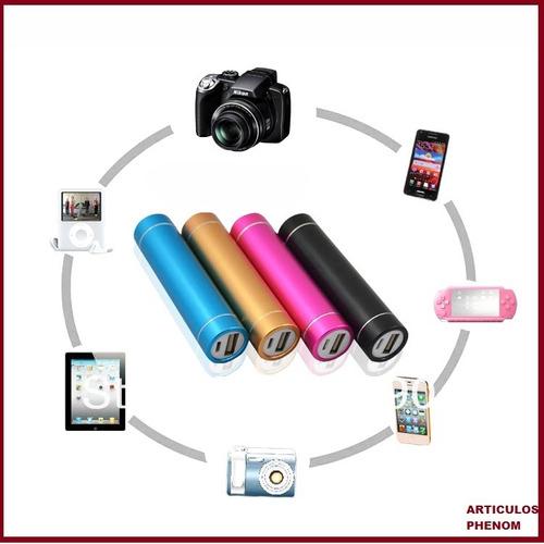 bateria portatil power bank p/celulares,etc.2600mah env/grat