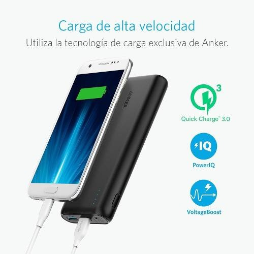 bateria portatil powercore speed 20000 qc3.0 anker