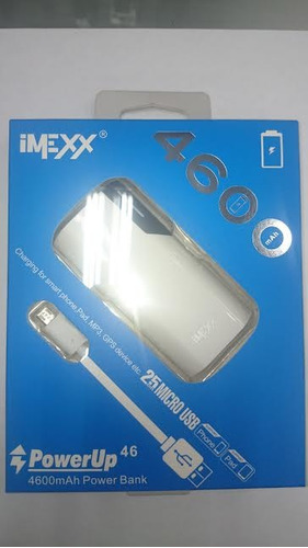 bateria power bank imexx 4.600 mah