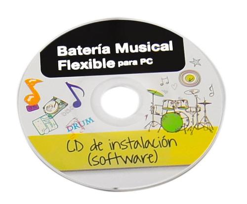 bateria profesional flexible para pc con disco d/instalacion