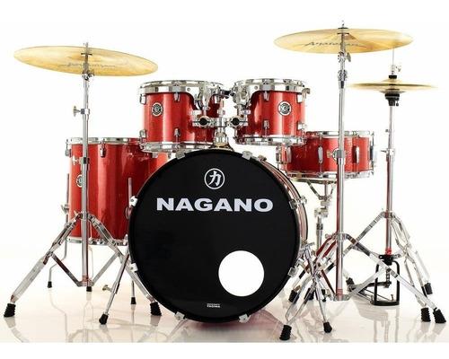 bateria profissional tagima nagano garage fusion 3 cores