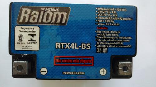 bateria raiom rtx6l-bs - bros 125 / crf230 / bros 150