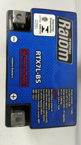 bateria raiom rtx7l-bs - honda twister cbx 250 - até 2008