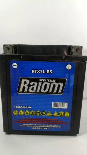 bateria raiom rtx7l-bs - kasinski flash 150 / seta 150