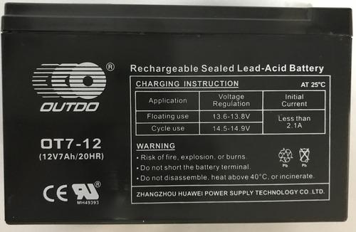 bateria recargab 12v 7ah ups,alarmas,panel solar,incendio