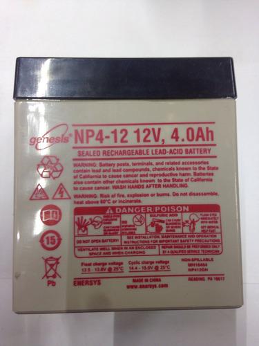 batería recargable 12v 4a gensesis