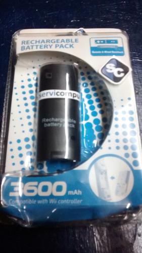 batería recargable (3600mah) para wii / wii remote