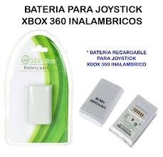 bateria recargable 4800 mah control xbox 360